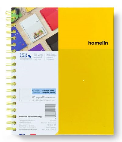 1 Subject Notebook 8 X 10 College Ruled Yellow (SKU 124118491349)