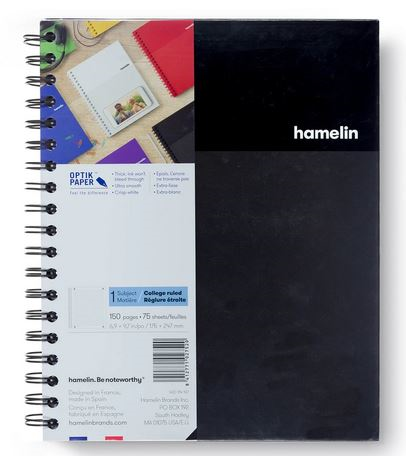 1 Subject Notebook 8 X 10 College Ruled Black (SKU 124118701349)
