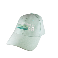 Cap Chambray Lines Three Shades Of Green