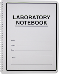 Lab Notebook Carbonless W/ Scientific Grid Pages