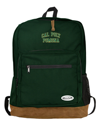 Backpack Cool Suede Green Arched Cal Poly Imprinted