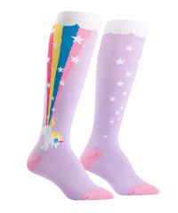 Youth Knee Hi Socks Rainbow Blast
