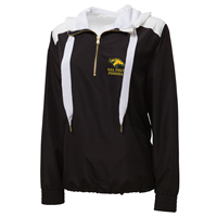 *Limited Sizes: Ladies 1/4 Zip Hood Anorak Horsehead Over Classic Black