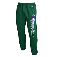 Sweatpant Powerblend Script Champ Over Classic Dk Green