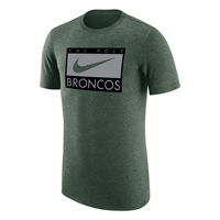 Nike Tee Ss Triblend Swoosh Broncos Fir Tree Heather