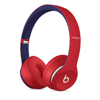 Beats Solo3 Wireless Over-Ear Headphones - Club Red
