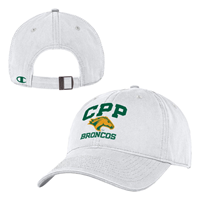 Cap Unstructured CPP Head Broncos Stacked White