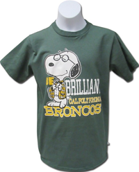 Adult Tee Snoopy Adult Be Brilliant Dk Green