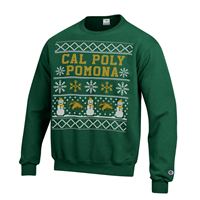 Crew Powerblend Holiday Head Dk Green