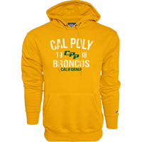 *Close Out Limited Sizes: Hood Hamden Cal Poly 1938 Broncos Ca Gold