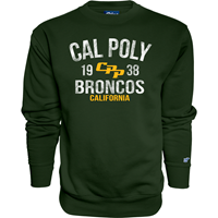 *Close Out Limited Sizes: Crew Campbell Cal Poly 1938 Broncos Ca Forest