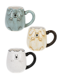 Dog Bas Relief Mugs ASST (1 Unit)