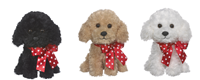 "7"" Beau Puppy W/ Ribbon ASST (1 Unit)"