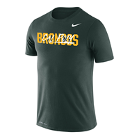 Nike Tee Legend S/S Cal Poly Script Over Broncos Progreen