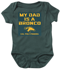 *Baby Onesie My Dad Is A Broncohead Forest Green