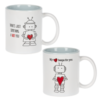I Love Robot Mugs ASST (1 Unit)