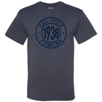 Tee 1938 In Cal Poly Pomona Ring Heather Navy