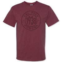 Tee 1938 In Cal Poly Pomona Ring Heather Maroon