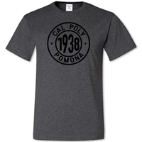 Tee 1938 In Cal Poly Pomona Ring Black Heather