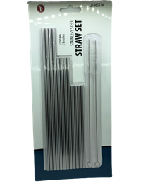 *Straw Stainless Steel Set 12Pk