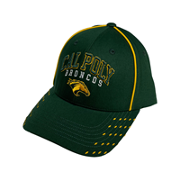 Cap Arched Cal Poly Broncos Mascot Piping Green