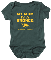 *Baby Onesie My Mom Is A Broncohead Dk Green