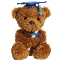 Grad Plush Wagner Bear Blue 8.5""
