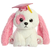 "Grad Plush - 8"" Puppa-Lations Pink Puppy"