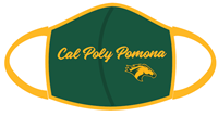 *Mask W/Cpp Athl Logo & Horse Head Green & Gold (PPE)