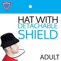 ADULT BUCKET HAT W/DETACHABLE SHIELD ASST (PPE)
