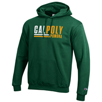***New Item: Hood Powerblend Two Color Cal Poly Lines Over Pomona Dark Green
