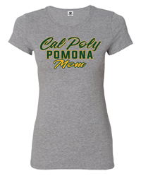Mom Tee Script Cal Poly Outline Oxford